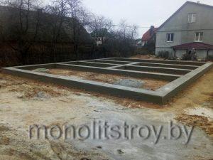 Мелкозаглубленный фундамент из бетона