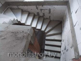 заливка лестницы из бетона