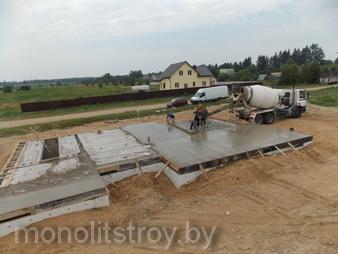 цоколь фундамента из бетона, фото