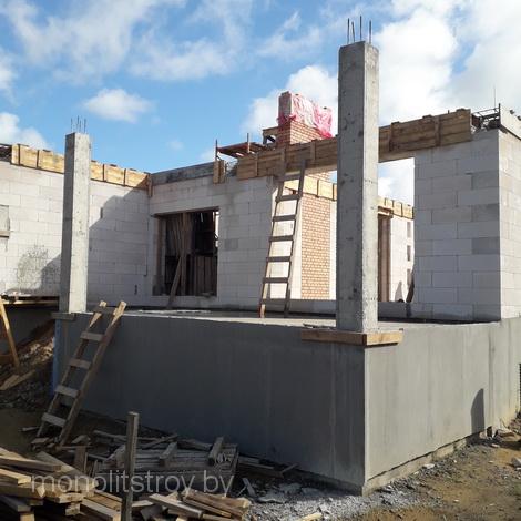 заливка колонн бетонных, фото