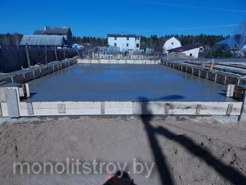 строительство монолитной бетонной стяжки