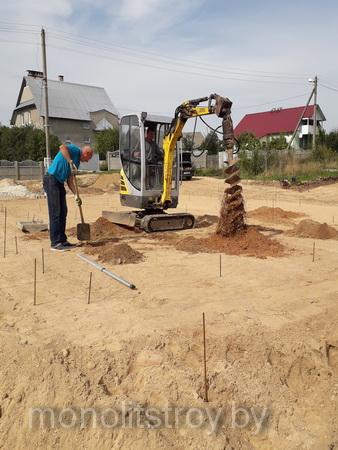 ростверк в Смолевичах, процесс строительства